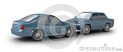 Two cyan cars
