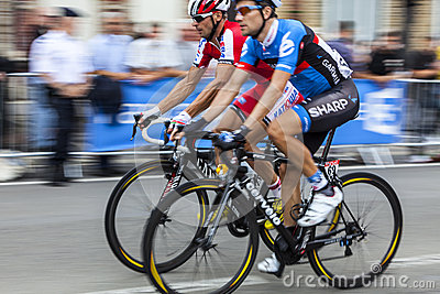 Two cyclists Editorial Image