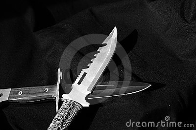Two Daggers in Black and White