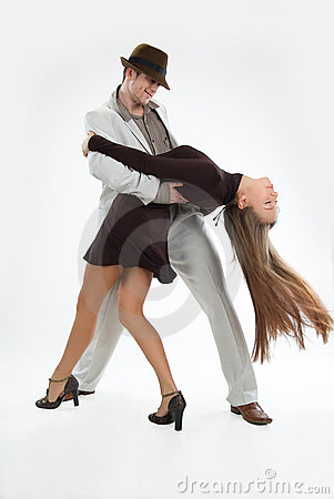 Free Two Dancers Stock Images - 12365944