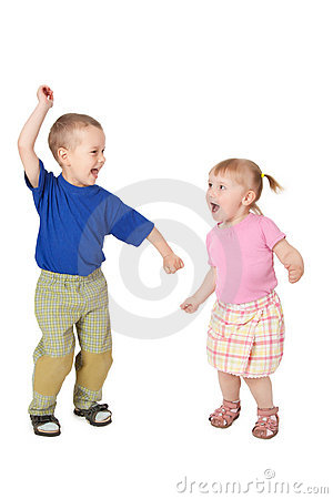 Two dancing child
