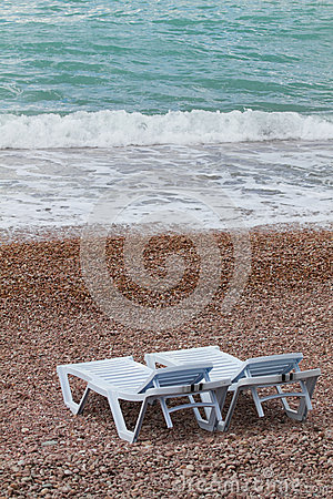 Two deck chairs