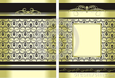 Two decorative backgrounds for wrapping