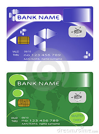 Two design bank money card