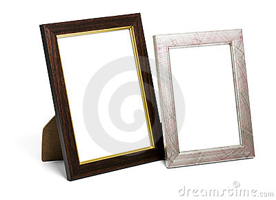 Two desktop picture frames