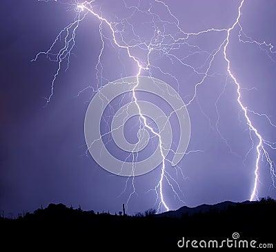 Two Detailed Lightning Strikes