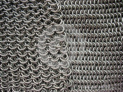 Two different patterns of antique chain mail