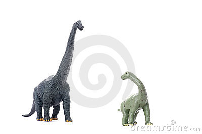 Two dinosaur isolated on white