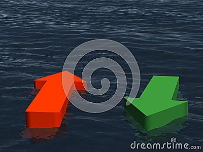 Two direction at the sea - income, outcome