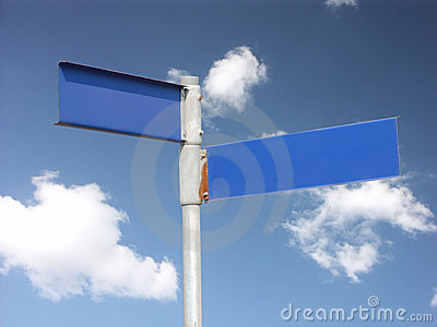 Two-direction signpost
