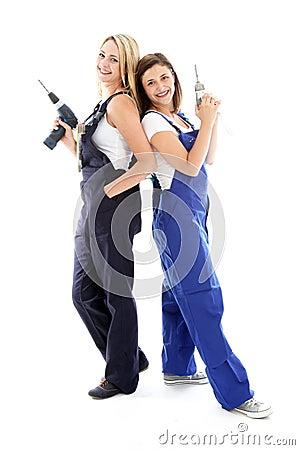 Two DIY women friends