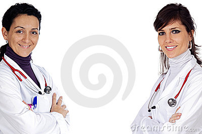 Two doctor women