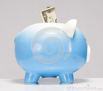 Two Dollar Bill Stuck in the Piggy Bank