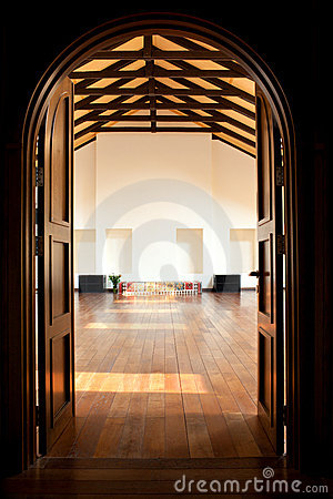 Free Two Doors Leading Into A Large Hall Royalty Free Stock Photo - 17309065