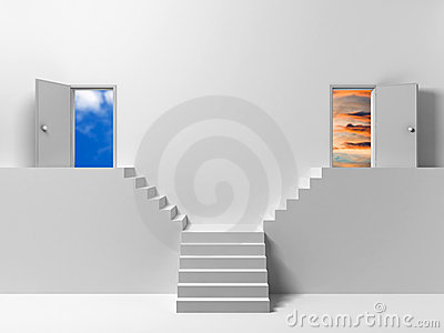 Two doors - two ways
