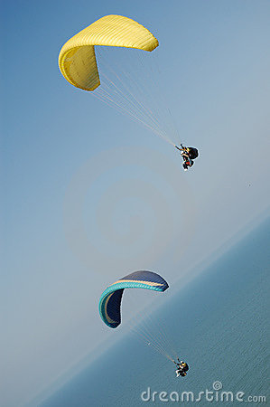 Two Double Paragliding
