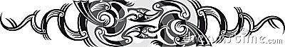 Two dragons pattern.