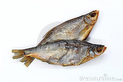 Two dried bream fishes