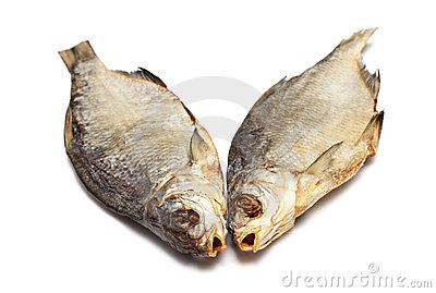 Two dried fishes