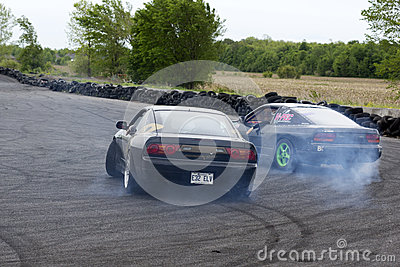 Two drifting cars Editorial Image