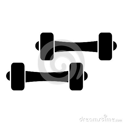 Free Two Dumbbells Icon, Simple Style Stock Photo - 79031980