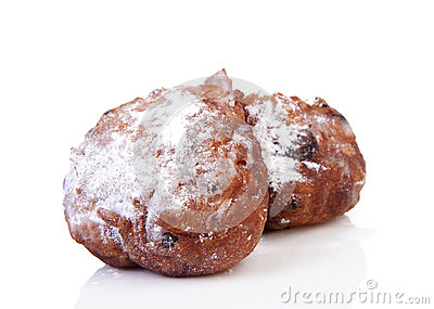 Two Dutch Donut Also Known As Oliebol, Traditional New ...