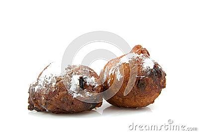 Two Dutch donut oliebollen