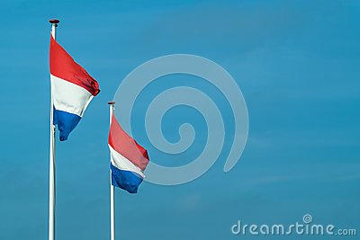 Two Dutch flags in a row