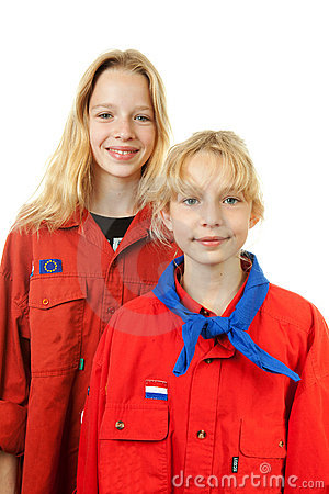 Two Dutch scout girls