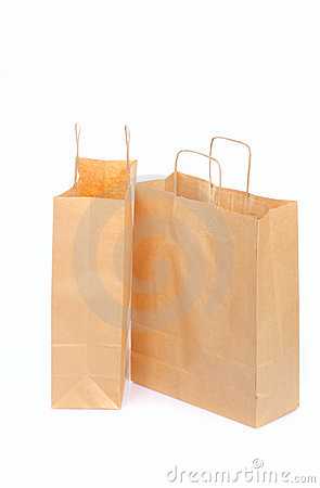 Two Ecological Paper Bags