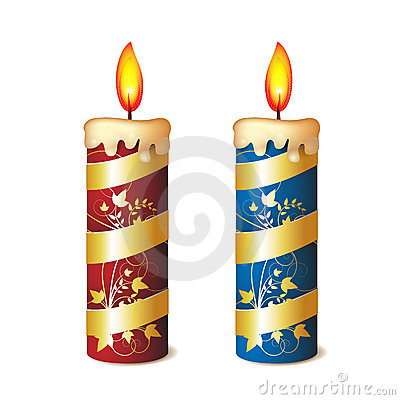 Two elegant candles