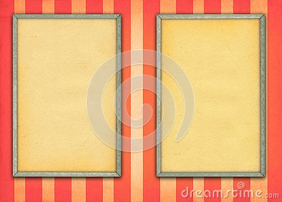 Two empty frames