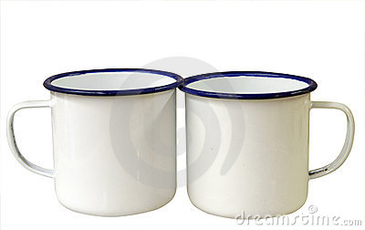 Two Enamel Mugs