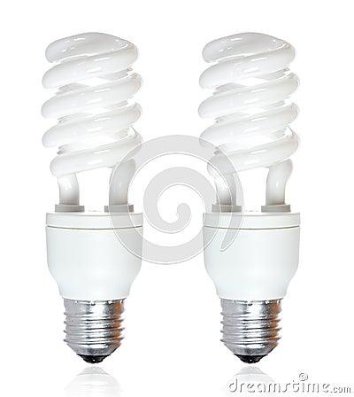 Two energy saving bulb
