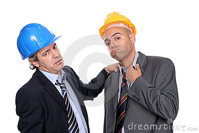 Two Engineers or Architects, very tired