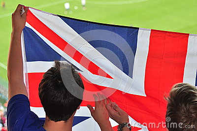 Two of England s fans Editorial Image