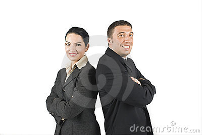 Two enthusiast business people