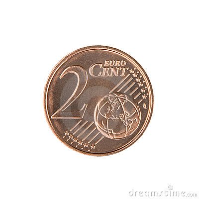 Free Two Euro Cent Coin Royalty Free Stock Images - 5262889