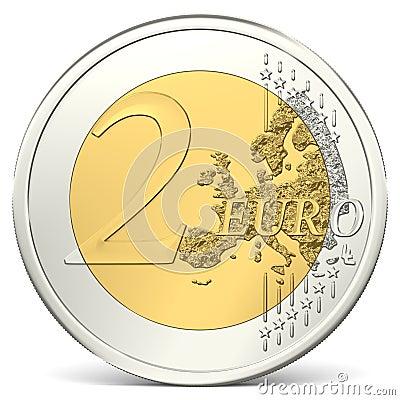 Free Two Euro Coin Stock Photo - 40806190