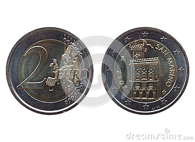 Two euro (EUR) coin from San Marino