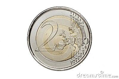 A two euros coin