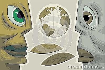 Two faces. Environmental dialogue