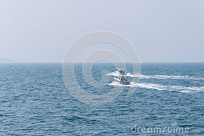 Two fast boat (Speed boat) in the sea