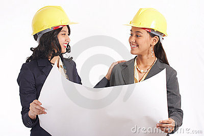 Two female architects working