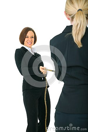 Two Female Businesswoman Compete Royalty Free Stock Photos - Image: 8080158