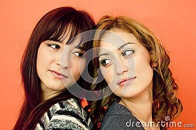 Two female friends.