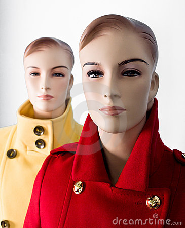 Two female mannequin