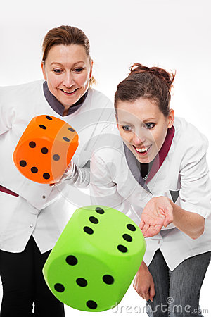Two female nurses concept home care