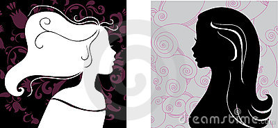 Two female silhouettes