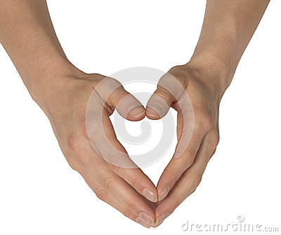 Two feminine hands